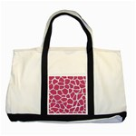 SKIN1 WHITE MARBLE & PINK DENIM (R) Two Tone Tote Bag Front