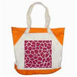 SKIN1 WHITE MARBLE & PINK DENIM (R) Accent Tote Bag Front