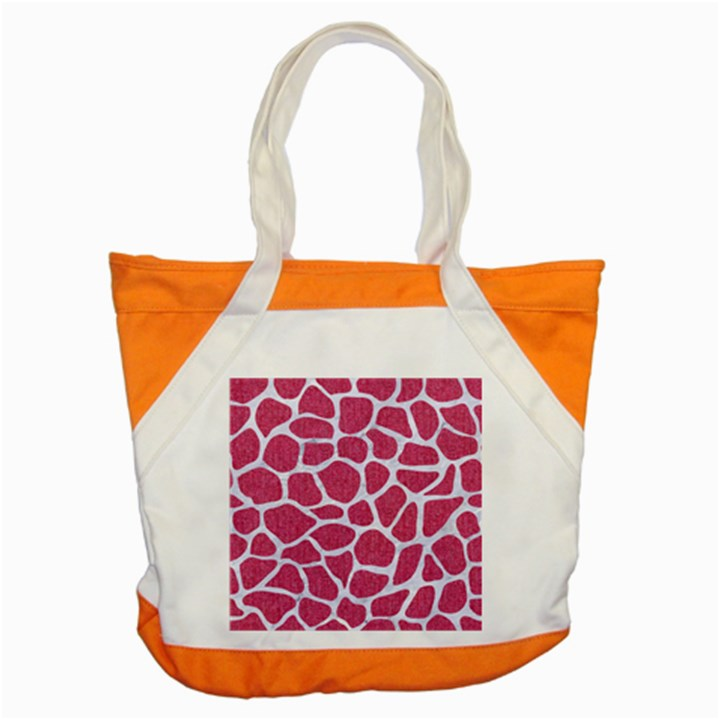 SKIN1 WHITE MARBLE & PINK DENIM (R) Accent Tote Bag
