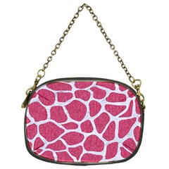 SKIN1 WHITE MARBLE & PINK DENIM (R) Chain Purses (One Side)