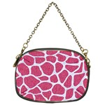 SKIN1 WHITE MARBLE & PINK DENIM (R) Chain Purses (One Side)  Front