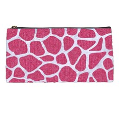 Skin1 White Marble & Pink Denim (r) Pencil Cases by trendistuff