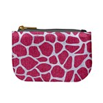 SKIN1 WHITE MARBLE & PINK DENIM (R) Mini Coin Purses Front