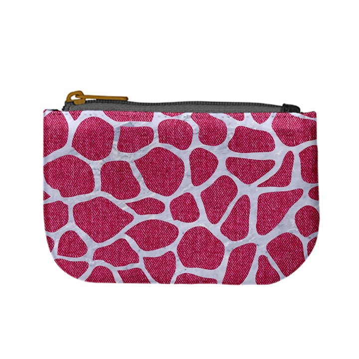 SKIN1 WHITE MARBLE & PINK DENIM (R) Mini Coin Purses