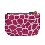 SKIN1 WHITE MARBLE & PINK DENIM (R) Mini Coin Purses Back