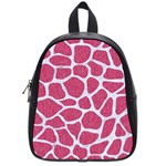 SKIN1 WHITE MARBLE & PINK DENIM (R) School Bag (Small) Front