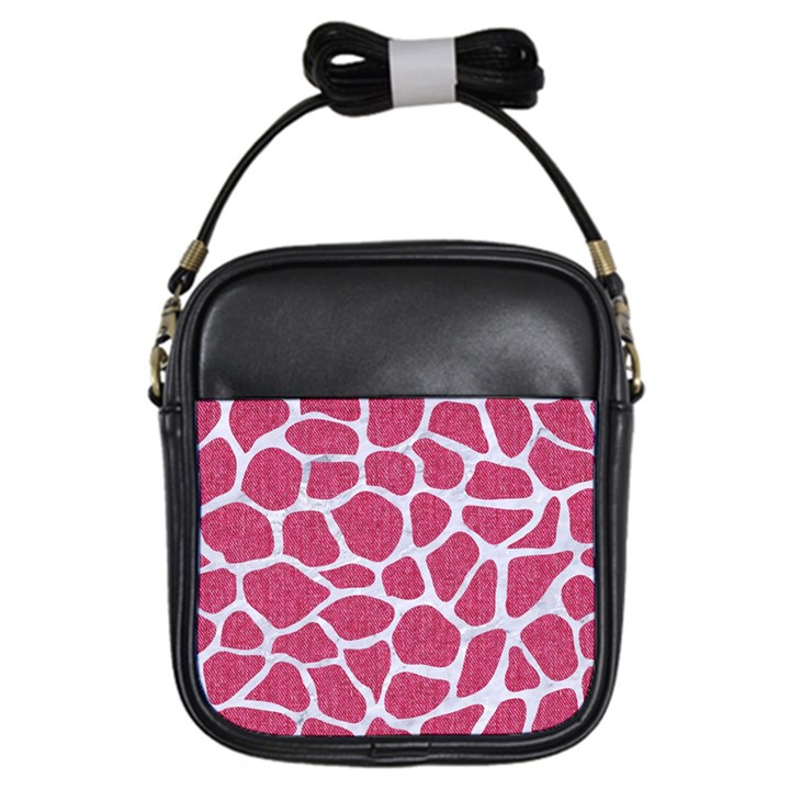SKIN1 WHITE MARBLE & PINK DENIM (R) Girls Sling Bags
