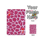SKIN1 WHITE MARBLE & PINK DENIM (R) Playing Cards 54 (Mini)  Front - Heart9