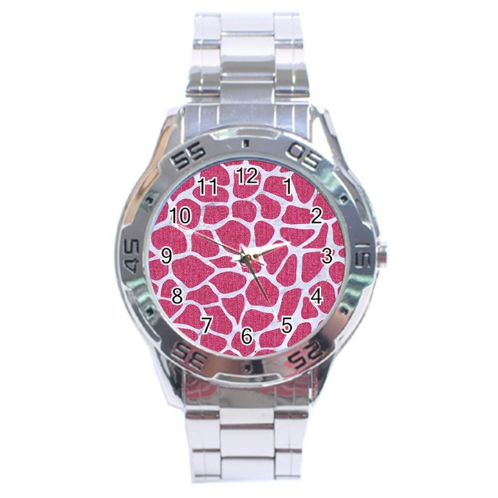 SKIN1 WHITE MARBLE & PINK DENIM (R) Stainless Steel Analogue Watch