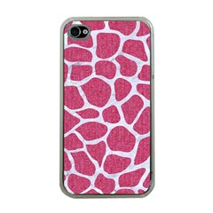 SKIN1 WHITE MARBLE & PINK DENIM (R) Apple iPhone 4 Case (Clear)