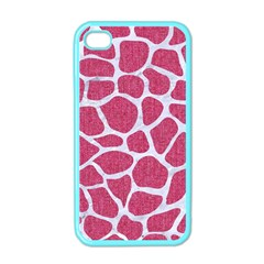 SKIN1 WHITE MARBLE & PINK DENIM (R) Apple iPhone 4 Case (Color)