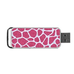 SKIN1 WHITE MARBLE & PINK DENIM (R) Portable USB Flash (One Side)