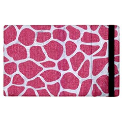Skin1 White Marble & Pink Denim (r) Apple Ipad 2 Flip Case