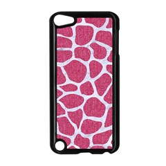 SKIN1 WHITE MARBLE & PINK DENIM (R) Apple iPod Touch 5 Case (Black)