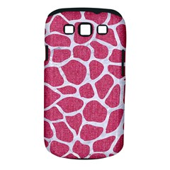 SKIN1 WHITE MARBLE & PINK DENIM (R) Samsung Galaxy S III Classic Hardshell Case (PC+Silicone)