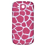 SKIN1 WHITE MARBLE & PINK DENIM (R) Samsung Galaxy S3 S III Classic Hardshell Back Case Front