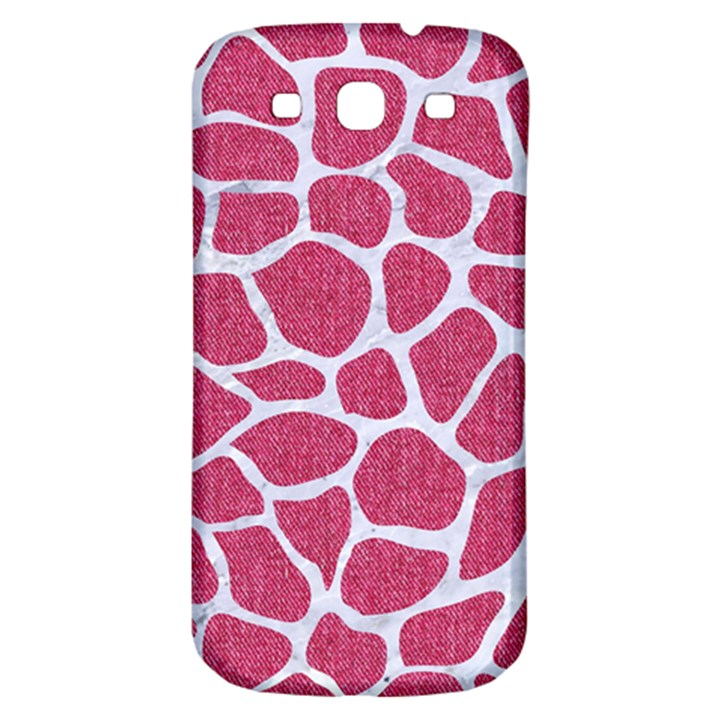 SKIN1 WHITE MARBLE & PINK DENIM (R) Samsung Galaxy S3 S III Classic Hardshell Back Case