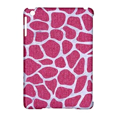 SKIN1 WHITE MARBLE & PINK DENIM (R) Apple iPad Mini Hardshell Case (Compatible with Smart Cover)