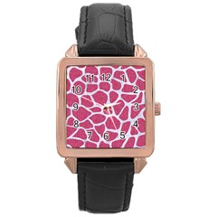 SKIN1 WHITE MARBLE & PINK DENIM (R) Rose Gold Leather Watch
