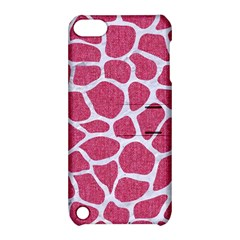SKIN1 WHITE MARBLE & PINK DENIM (R) Apple iPod Touch 5 Hardshell Case with Stand