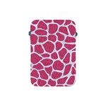 SKIN1 WHITE MARBLE & PINK DENIM (R) Apple iPad Mini Protective Soft Cases Front
