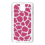 SKIN1 WHITE MARBLE & PINK DENIM (R) Samsung Galaxy Note 3 N9005 Case (White) Front