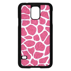 Skin1 White Marble & Pink Denim (r) Samsung Galaxy S5 Case (black)