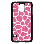 SKIN1 WHITE MARBLE & PINK DENIM (R) Samsung Galaxy S5 Case (Black) Front