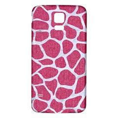 Skin1 White Marble & Pink Denim (r) Samsung Galaxy S5 Back Case (white)