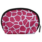 SKIN1 WHITE MARBLE & PINK DENIM (R) Accessory Pouches (Large)  Back