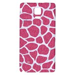 SKIN1 WHITE MARBLE & PINK DENIM (R) Galaxy Note 4 Back Case Front