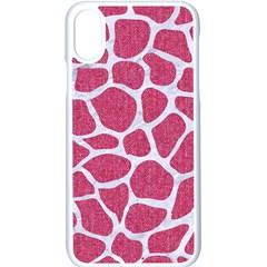 Skin1 White Marble & Pink Denim (r) Apple Iphone X Seamless Case (white)