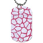 SKIN1 WHITE MARBLE & PINK DENIM Dog Tag (One Side) Front