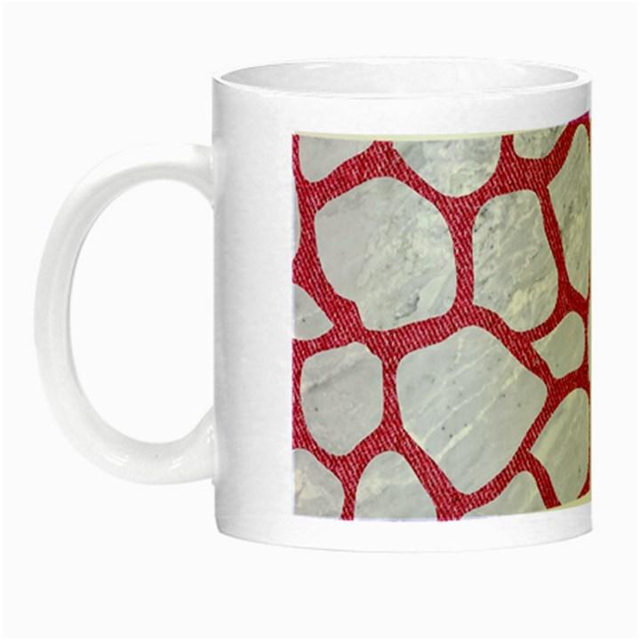 SKIN1 WHITE MARBLE & PINK DENIM Night Luminous Mugs