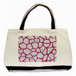 SKIN1 WHITE MARBLE & PINK DENIM Basic Tote Bag Front