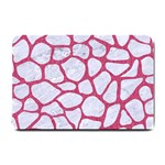 SKIN1 WHITE MARBLE & PINK DENIM Small Doormat  24 x16 Door Mat - 1