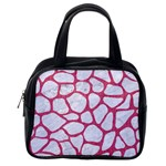 SKIN1 WHITE MARBLE & PINK DENIM Classic Handbags (One Side) Front