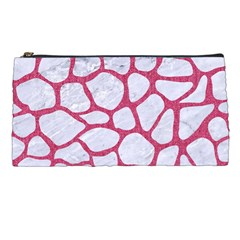 Skin1 White Marble & Pink Denim Pencil Cases