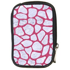 Skin1 White Marble & Pink Denim Compact Camera Cases