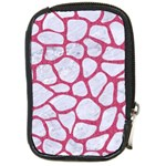 SKIN1 WHITE MARBLE & PINK DENIM Compact Camera Cases Front