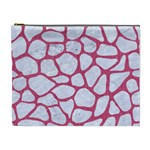 SKIN1 WHITE MARBLE & PINK DENIM Cosmetic Bag (XL) Front
