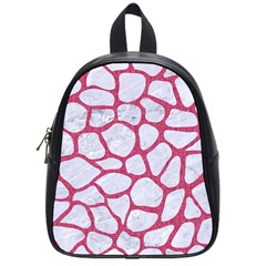 Skin1 White Marble & Pink Denim School Bag (small)