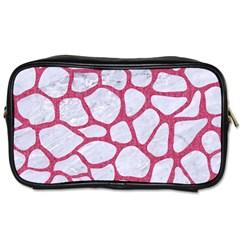 Skin1 White Marble & Pink Denim Toiletries Bags