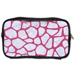 SKIN1 WHITE MARBLE & PINK DENIM Toiletries Bags 2-Side Front