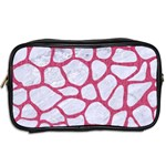 SKIN1 WHITE MARBLE & PINK DENIM Toiletries Bags 2-Side Back