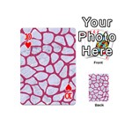 SKIN1 WHITE MARBLE & PINK DENIM Playing Cards 54 (Mini)  Front - Heart10