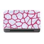 SKIN1 WHITE MARBLE & PINK DENIM Memory Card Reader with CF Front