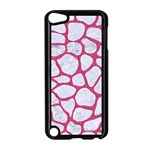 SKIN1 WHITE MARBLE & PINK DENIM Apple iPod Touch 5 Case (Black) Front