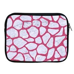 Skin1 White Marble & Pink Denim Apple Ipad 2/3/4 Zipper Cases