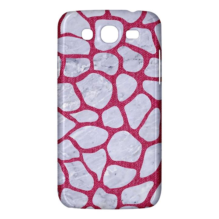 SKIN1 WHITE MARBLE & PINK DENIM Samsung Galaxy Mega 5.8 I9152 Hardshell Case